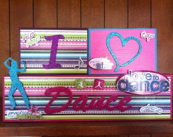 SPORTS - I love Dance Custom Name Kids/Baby Room Wood Blocks