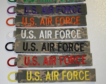U.S. AIR FORCE Name Tape Keychain