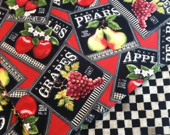 Insulated Casserole Carrier in Fruit Patch Labels, Personalization Available