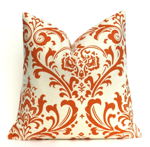 Etsy Throw Pillow Sets : Items similar to Orange Pillow cover. Decorative Throw Pillow Covers. Set of TWO 16x16 inch ...