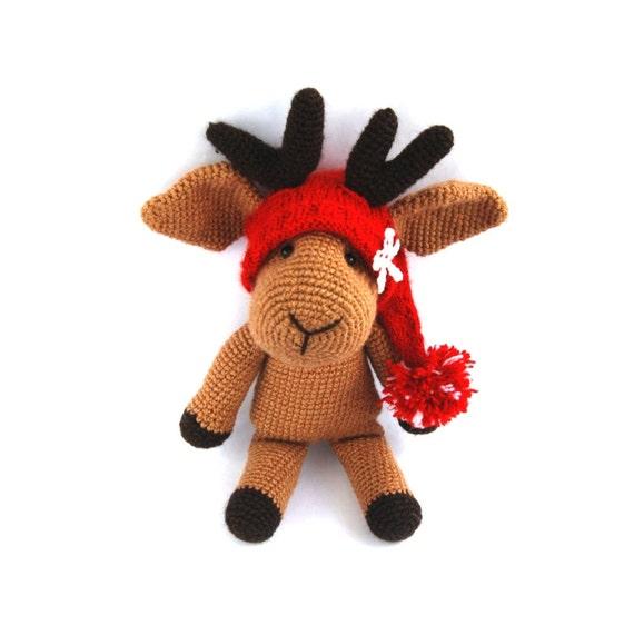 Christmas Reindeer Amigurumi : Items similar to reindeer doll, amigurumi toy, gift for ...