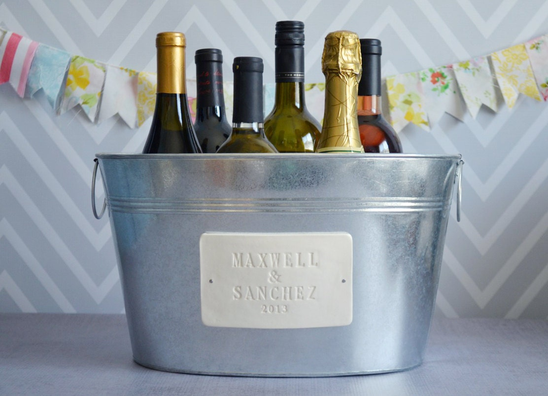 Personalized Wedding Gift Large Champagne Tub with by Susabellas