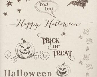 Photography Words Overlays (9) - Halloween photo overlays - 9pcs - INSTANT DOWNLOAD
