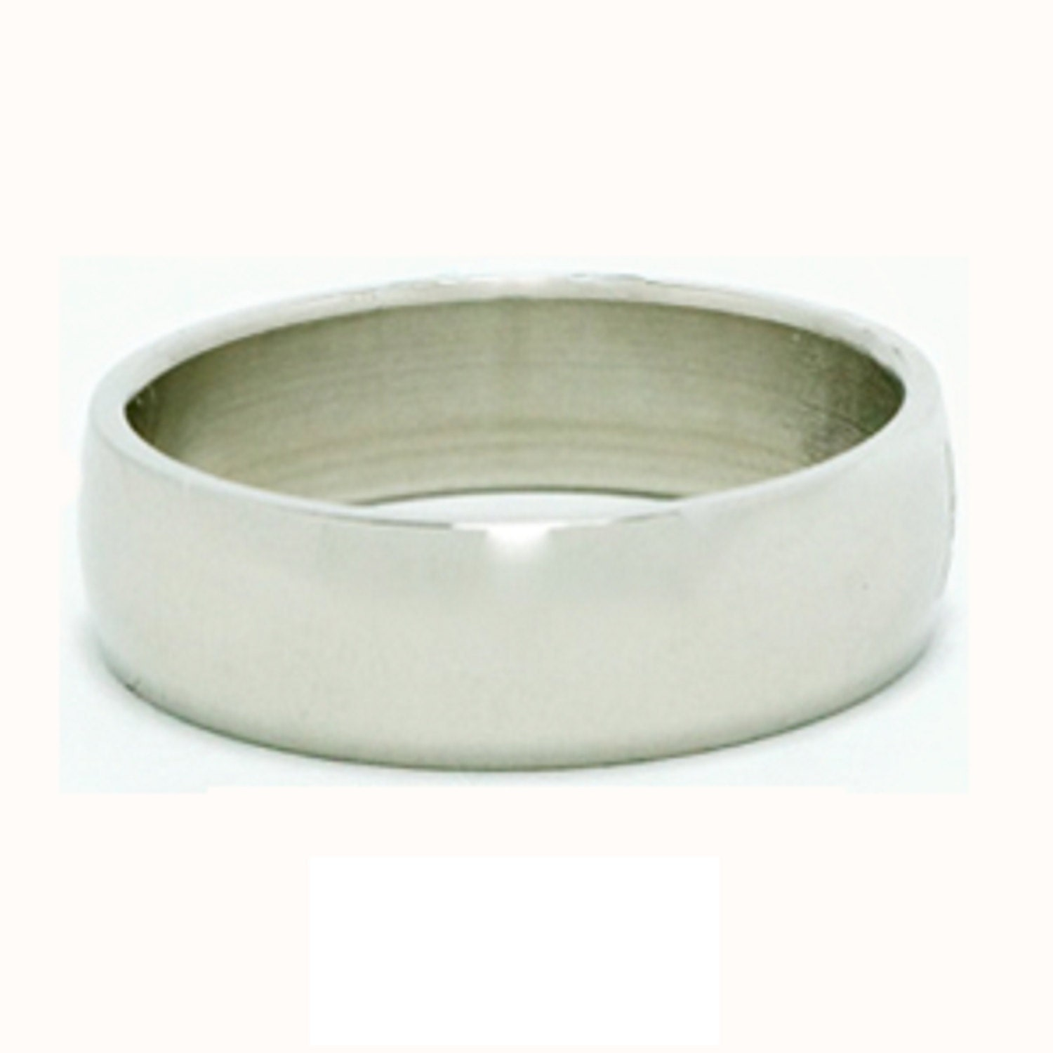 Stainless Steel Low Dome Name Ring 5mm