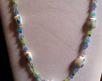 """Summer  Frosted Pastels 24"""" necklace"""