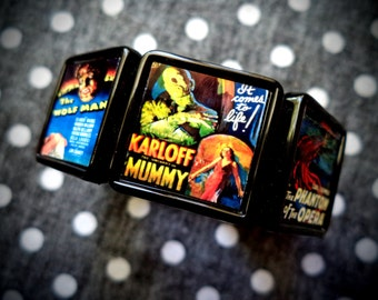 Universal Horror collage bracelet