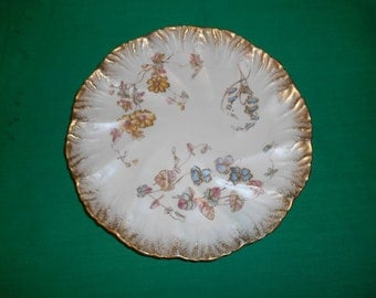 "One (1), Bone China, 8"" Luncheon /Salad Plate, from Pointons, in the D329 Pattern."