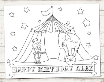Circus Party - Carnival Party- Coloring Sheet - Vintage Inspired / Retro Circus - Custom, Printable designs