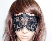 soft black french lace mysterious veil tulle eye mask  Alice in Wonderland party queen 100% handmade adjustable
