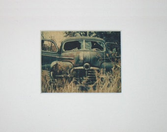 Original Art: 'Make a Statement Vintage Car' Phototransfer Art