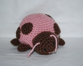 Cute as a Ladybug- Pink and Brown