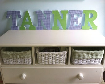 Preppy Wooden Letters