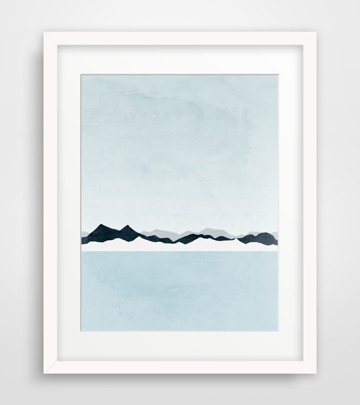 Wall art minimalist art mountain print scandinavian print for Minimalist wall decor