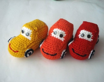 ecofriendly toys stuffed car, Crochet Red Cars Baby toy, kids stuffed cars toys,  toddler stuffed toys cars, crochet cars, gifts for kids