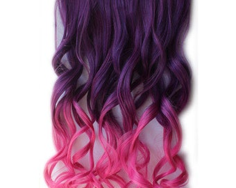 Purple to Pink Ombre Heat Friendly Hair Extension