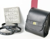 Hoya 58mm Close Up Macro Lens Filters Set, 1, 2, 4, Manual, Vinyl Case, Vintage Film Camera Filters, FotoRetro, Hoya