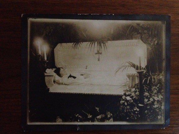 Antique Victorian Woman Post Mortem Funeral Photograph By