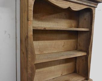 Rustic Wall Shelf, Shabby style wall shelf, primitive wall shelf, sweetheart wall shelf, antique style wall shelf, distressed book shelf