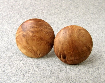 Wooden button earrings FOREST MAIDEN iv