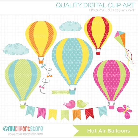 Clipart Hot Air Balloons / Summer Breeze SB2 Digital
