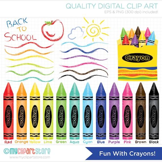 Clipart Fun With Crayons Educational Teachers Digital