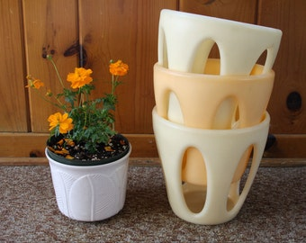 Italian Matching Mid-Century Modern Guzzini  Planters for Indoor or Outdoor Use