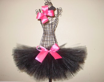 Little Black Dress Tutu Skirt and Headband Set Newborn to 12 Month Custom Baby Infant