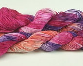 Yarn Hand Dyed Cotton Rayon Red Violet Orange Purple 2424f