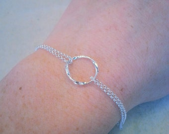 Sterling Silver Twisted Circle Bracelet