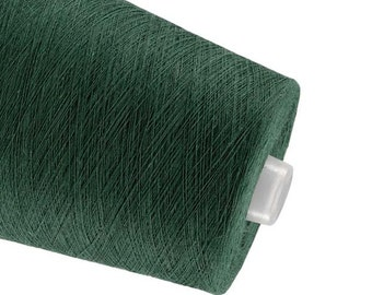Linen yarn High quality natural linen  thread flax 1ply 2ply  3ply yarn dark green