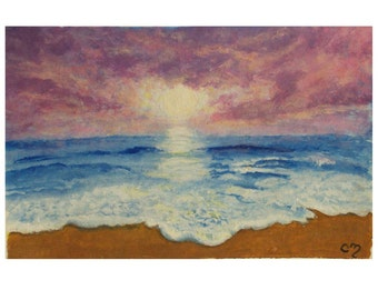 Ocean Sunset Painting