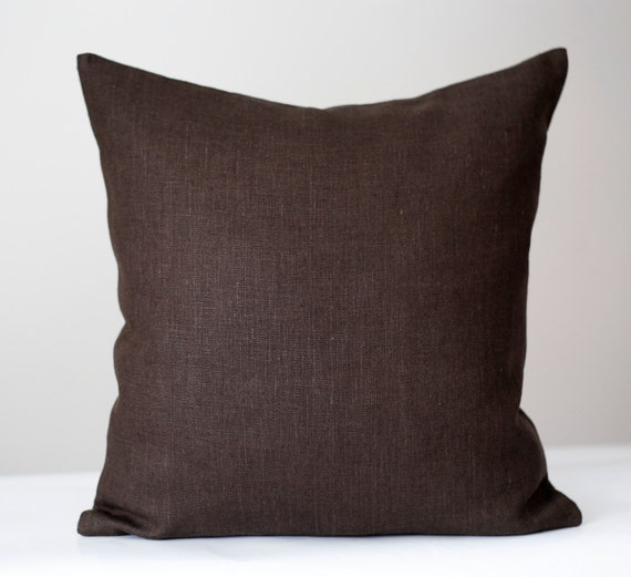 Decorative Pillow Brown : Brown euro shams Chocolate brown shams Decorative pillow