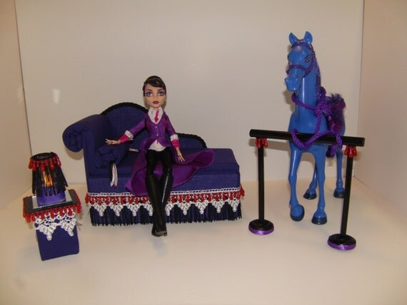 Items Similar To Furniture For Monster High Dolls Handmade Chaise Lounge Bed For Headmistress