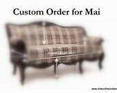 Custom Victorian Style Doll Sofa Representation