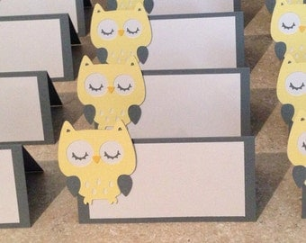 Yellow Owl place cards
