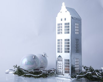 One candle holder // Lantern // Tin house Amsterdam // Window display // Housewarming gift // Christmas gift // Modern holiday decor