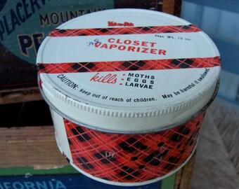 Retro Moth Tin from Value-Pak Vintage Advertising Kitsch