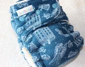 Hybrid Fitted Cloth Diaper Dr Who *LAST ONE*