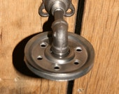 Single Pulley Mount for your Light Fixture  Industrial Pulley Wall Sconce - Good for walls or ceilings