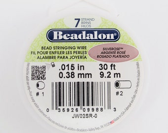 Silver Rose Beadalon 7 Strand Bead Stringing Wire .015 30ft #99-015306