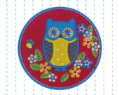 Owl Iron on Applique Patch - Embroidered Patch