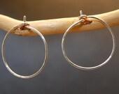 Hammered Small Hoop Earrings