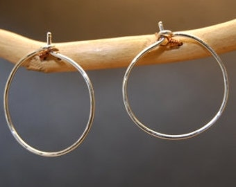 Hammered Small Hoop Earrings