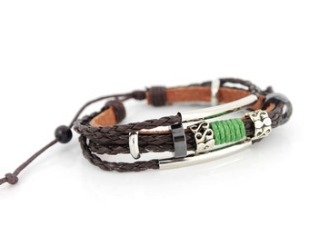 Cool Cottage Chic Dark Brown Leather Cord Bracelet