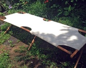 Vintage Canvas Cot Camp Portable