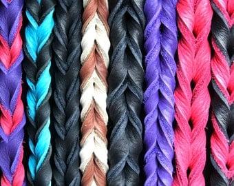 Braided Bullhide lead, 30 inches long, leather, handmade leash
