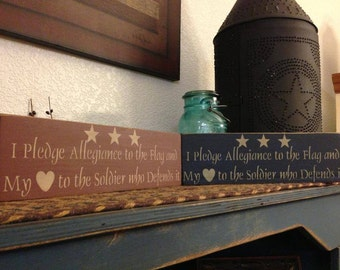 I Pledge Allegiance Handcrafted Wooden Sign