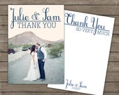 Custom Photo Thank You front and back