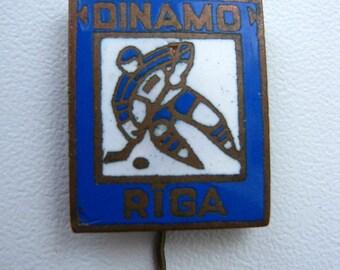 Vintage soviet USSR  pin badge sport Hockey