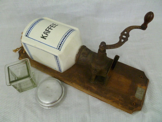 Wall Mounted Grinder ~ Antique kaffee coffee grinder wall mount made in germany